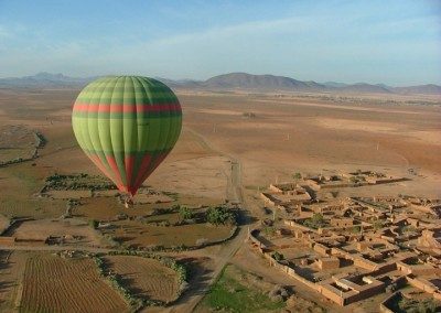 Float over Berber villages on a hot air balloon ride near Marrakech with Experience Morocco