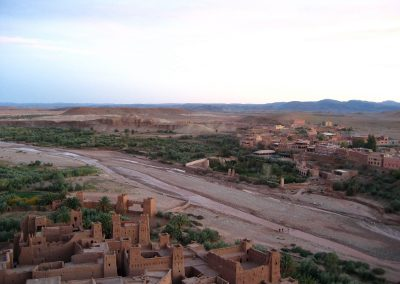 Looking back towards the new town across the river from Ksar Ait Ben Haddou