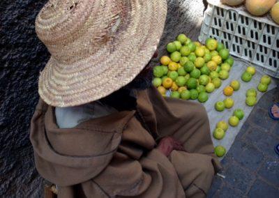 Man selling lemons in Marrakech souk
