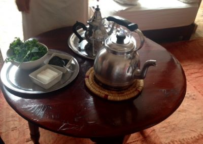 Ingredients for Moroccan mint tea