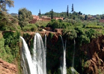 Berber village of Ouzoud at the top of Ouzoud Waterfalls