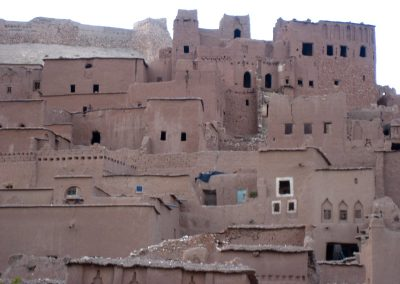 Traditional clay brick houses within Ksar Ait Ben Haddou