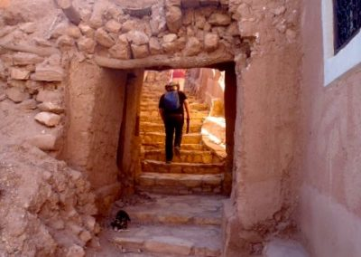 Walking through the streets of Ksar Ait Ben Haddou